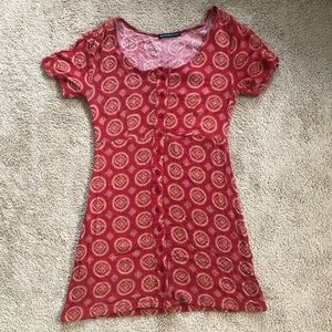 Brandy Melville red medallion dress
